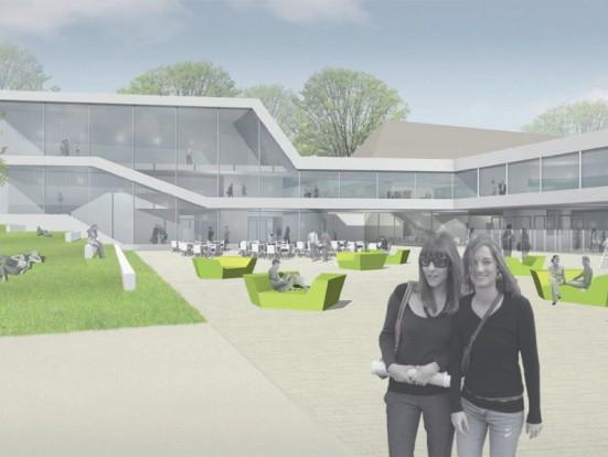 Modell Neubau Zeppelin Universität